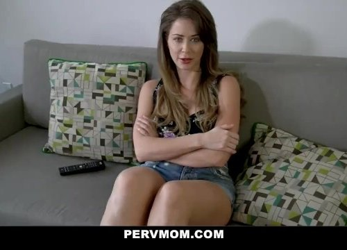Stepson blackmailing step mom Emily Addison to a force fuck.